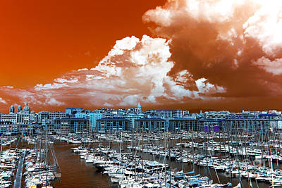 Photograph - Marseille Old Port Pop Art by John Rizzuto