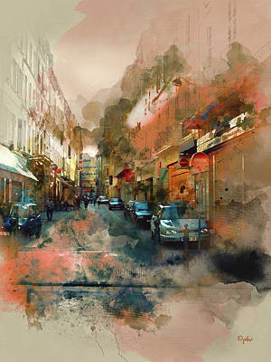 Digital Art - Marseille Side Street by Paulette B Wright