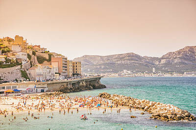 Marseille - South Of France - Beach Art Print by Vivienne Gucwa