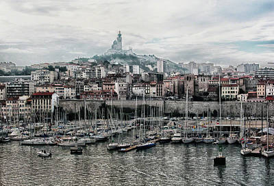 Photograph - Marseilles France Harbor by Alan Toepfer