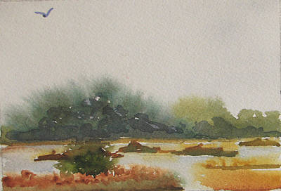 Painting - Marsh Beyond Number Four Bridge by Libby  Cagle
