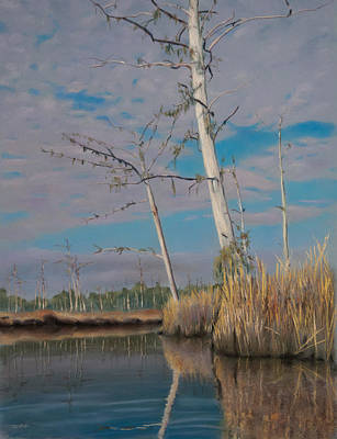 Pastel - Marsh by Christopher Reid