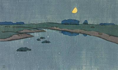Beautiful Creek Drawing - Marsh Creek by Arthur Wesley Dow