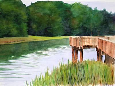 Painting - Marsh Dock by Christopher Reid