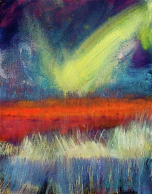 Painting - Marsh Fire by Les Leffingwell