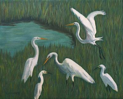 Painting - Marsh Gathering by Jill Ciccone Pike