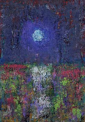 Painting - Marsh Glow Original Painting by Sol Luckman