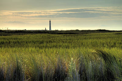 Marsh Grass And Morris Island Lighthouse Art Print