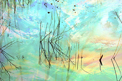 Painting - Marsh Grasses - Reflections by Marie Jamieson