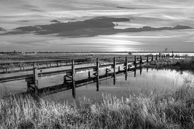 Photograph - Marsh Harbor Black And White by Debra and Dave Vanderlaan