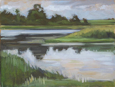 Painting - Marsh, June Afternoon by Kim Gordon