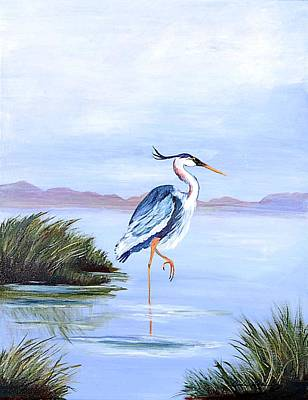 Painting - Marsh King by Shirley Lawing