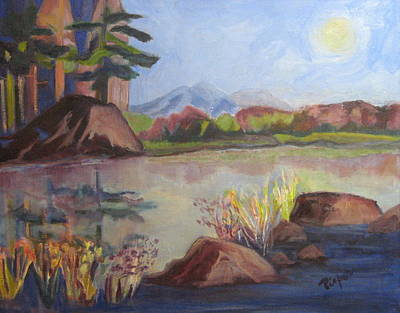 Art Print featuring the painting Marsh Land by Betty Pieper