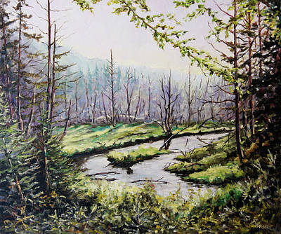 Walter Pranke Painting - Marsh Lands by Richard T Pranke