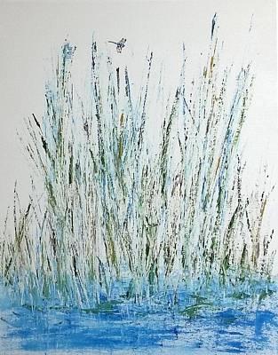 Wall Art - Painting - Marsh Life by Linda Wimberly