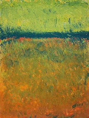Painting - Marsh Light Original Painting by Sol Luckman
