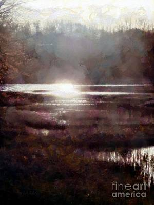 Photograph - Marsh Moods - At The End Of The Day - Vertical by Janine Riley