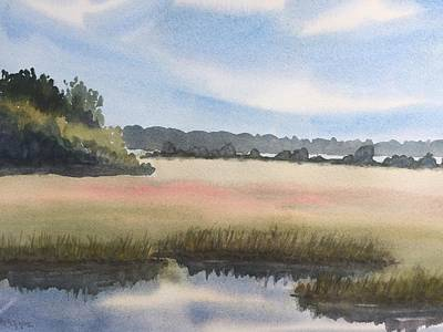 Painting - Marsh by Peggy Poppe