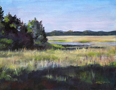 North Sea Painting - Marsh Promontory by Christopher Reid
