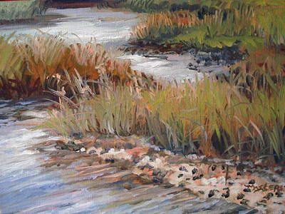Marsh Reflections Art Print by Marilyn Masters