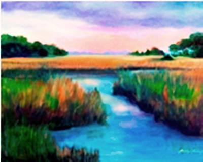 Painting - Marsh Splendor by Shirley Lawing