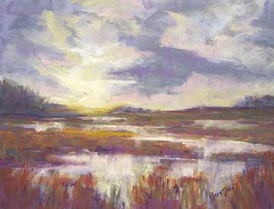 Pastel - Marsh Sunrise by Barbara O'Toole