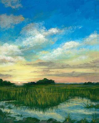 Marsh Sunrise Art Print by John Brown