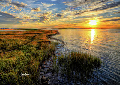 Photograph - Marsh Sunset by John Loreaux