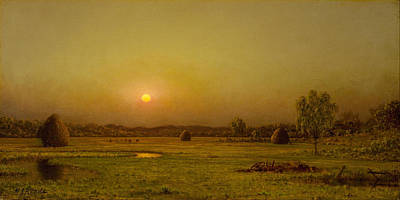 Painting - Marsh Sunset by Martin Johnson Heade