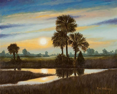 Marsh Sunset Art Print by Rick McKinney