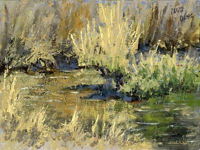 Marsh Scene Painting - Marsh Twilight by David King