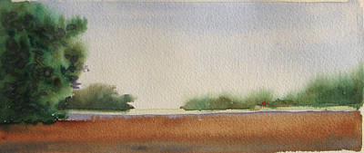 Painting - Marsh With Marker by Libby  Cagle