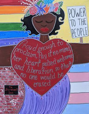 Painting - Marsha P Johnson by Angela Yarber