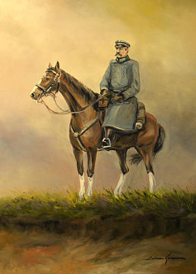 Painting - Marshal- Jozef Pilsudski by Luke Karcz