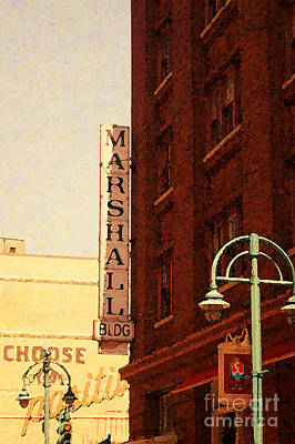 Digital Art - Marshall Bldg by David Blank