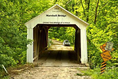 Photograph - Marshall Covered Bridge by Adam Jewell