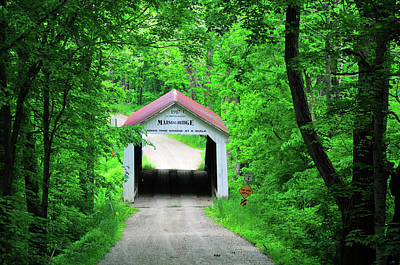 Photograph - Marshall Covered Bridge by David Arment