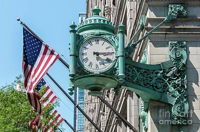 Photograph - Marshall Field's Clock by David Levin