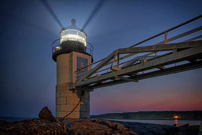 Photograph - Marshall Point At Night by Rick Berk