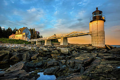 Mid-coast Maine Photograph - Marshall Point Light Aglow by Thomas Schoeller
