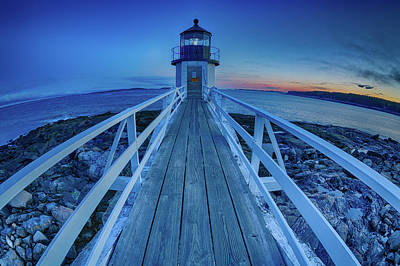 Photograph - Marshall Point Lighthouse At Sunset, Maine, Usa by Kyle Lee