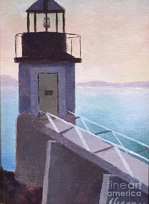 Painting - Marshall Point Lighthouse by Claire Gagnon