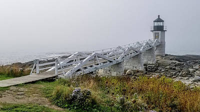 Photograph - Marshall Point Lighthouse In Maine by Marilyn Burton