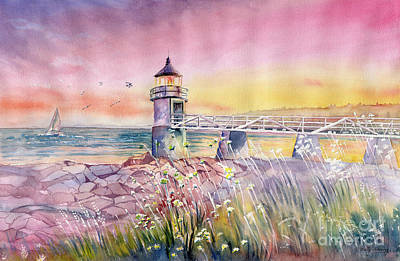 Painting - Marshall Point Lighthouse by Melly Terpening