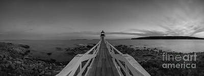 Lucille Ball - Marshall Point Sunset Panorama BW by Michael Ver Sprill