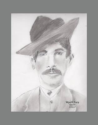 Drawing - Marshall Wyatt Earp by John Bennett