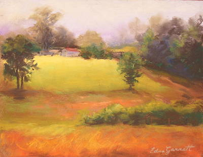 Drawing - Marshallville Landscape 1 by Edna Garrett