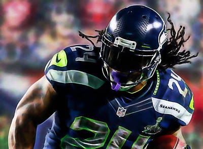 Mixed Media - Marshawn Lynch Collection by Marvin Blaine