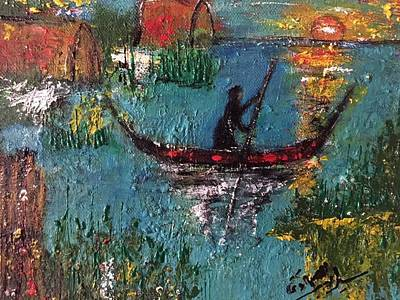 Iraq Painting - Marshes by Siran Ajel