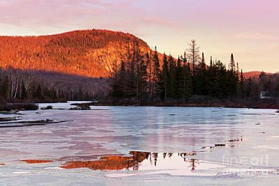 Photograph - Marshfield Pond Winter Landscape by Alan L Graham